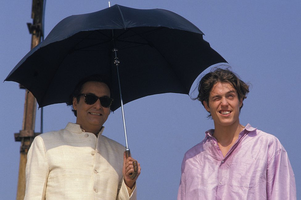 Soumitra Chatterjee with Hugh Grant