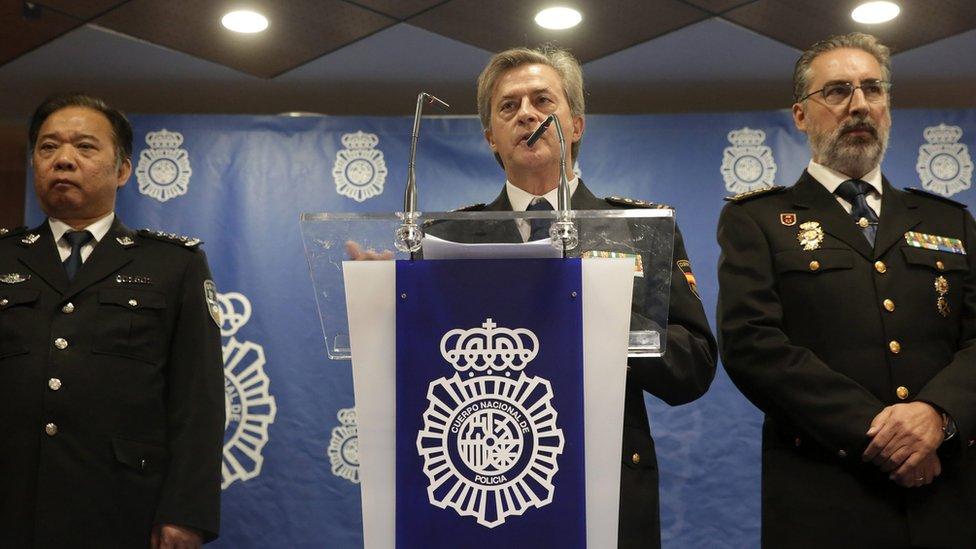 西班牙警方在去年12月所採取的行動得到了中國警方的合作
