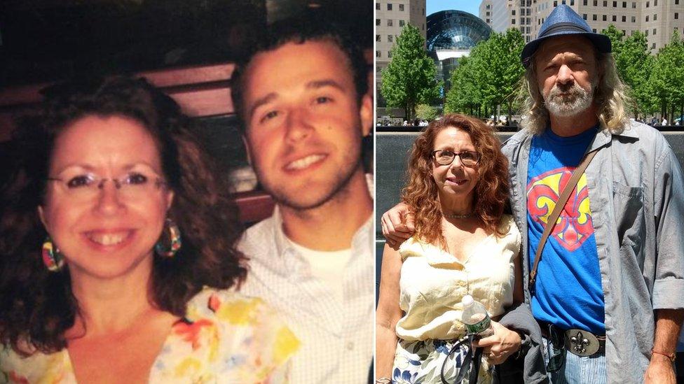 Keti Klajner sa sinom Majklom (levo) i mužem (desno)