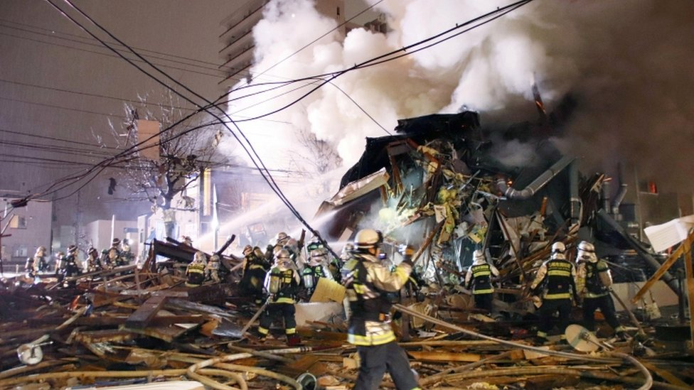 Japan explosion: Dozens injured in Sapporo restaurant blast