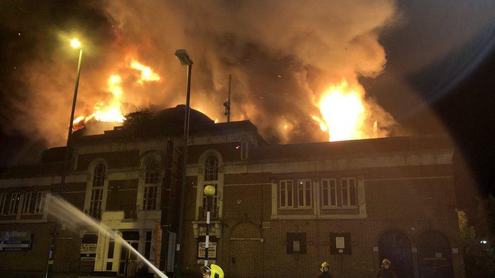 Harborne fire: Former cinema blaze treated as 'suspicious'