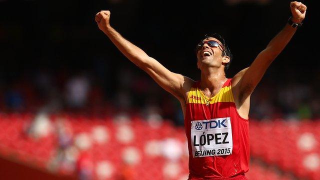 Spain's Miguel Angel Lopez wins 20km walk gold