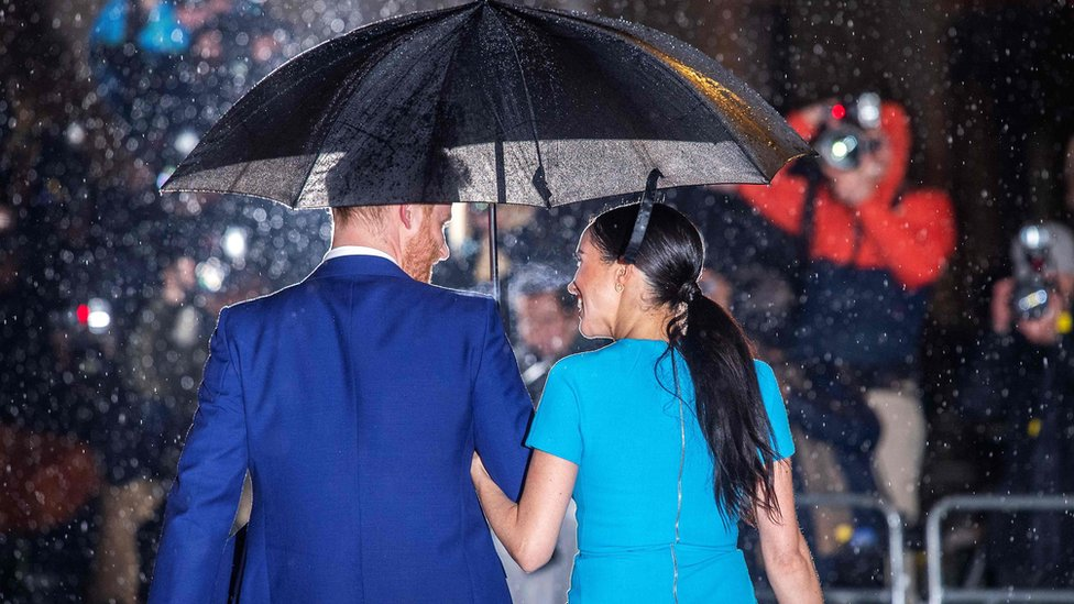 Harry and Meghan at the awards