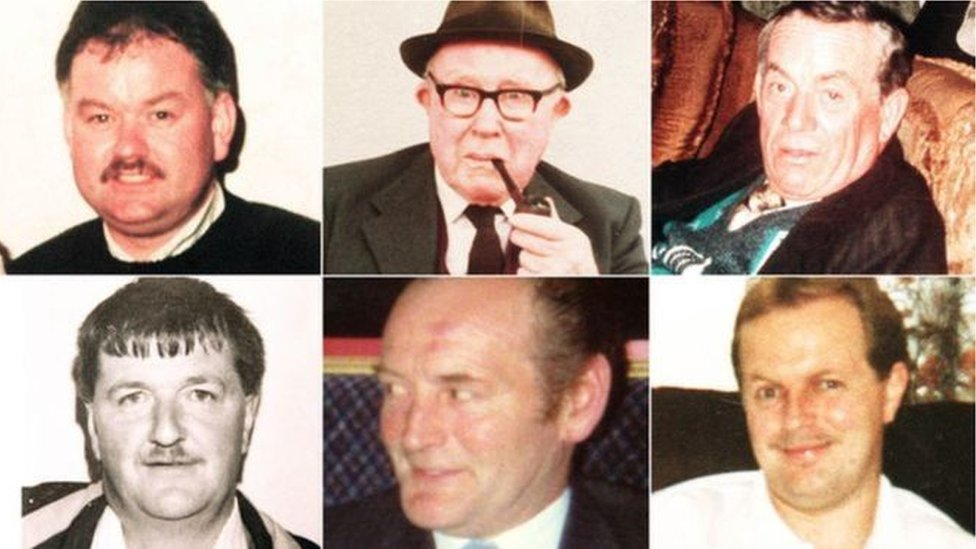 Six men were shot dead as they watched a football match in a pub in Loughinisland in 1994