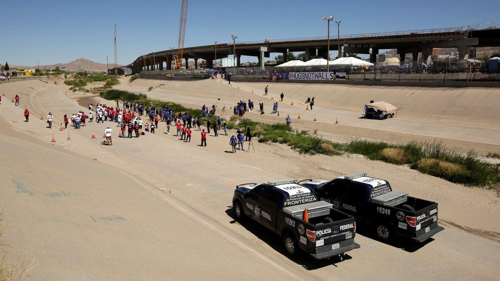 Frontera entre Estados Unidos y México en Ciudad Juárez.