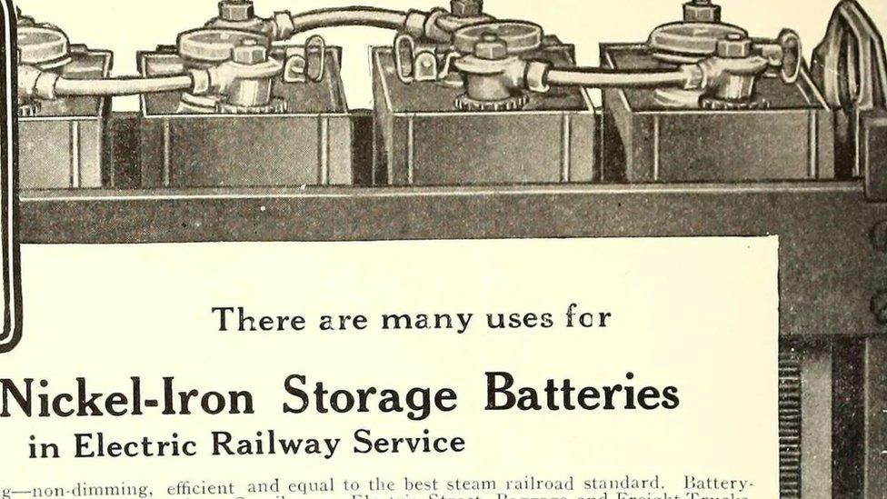 Artículo periodístico explicando los usos de las baterías de níquel-hierro.