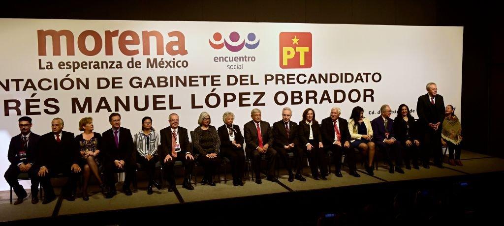 Gabinete del candidato Andrés Manuel López Obrador