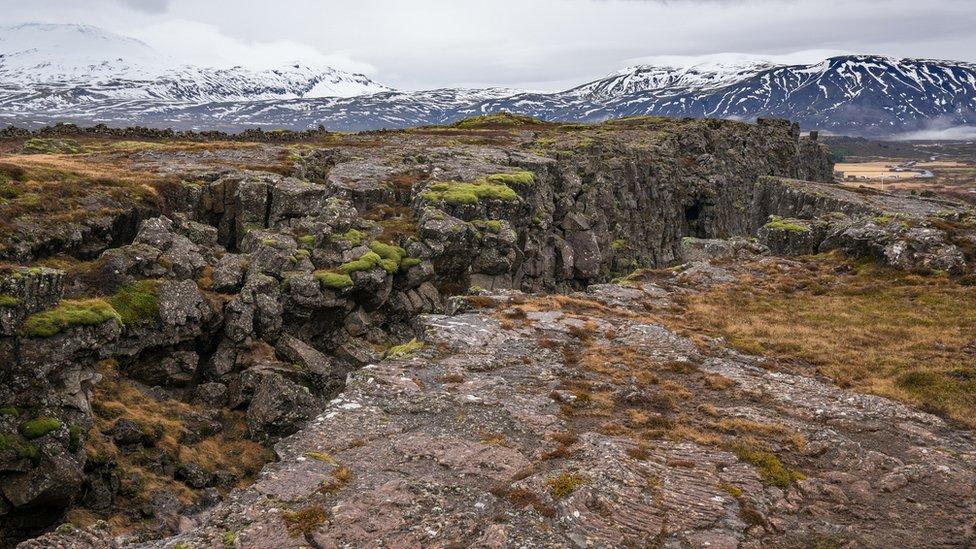 Grieta de la corteza terrestre en Islandia