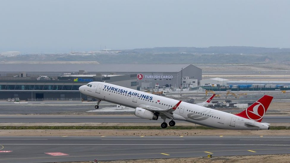 Avión de Turkish Airlines