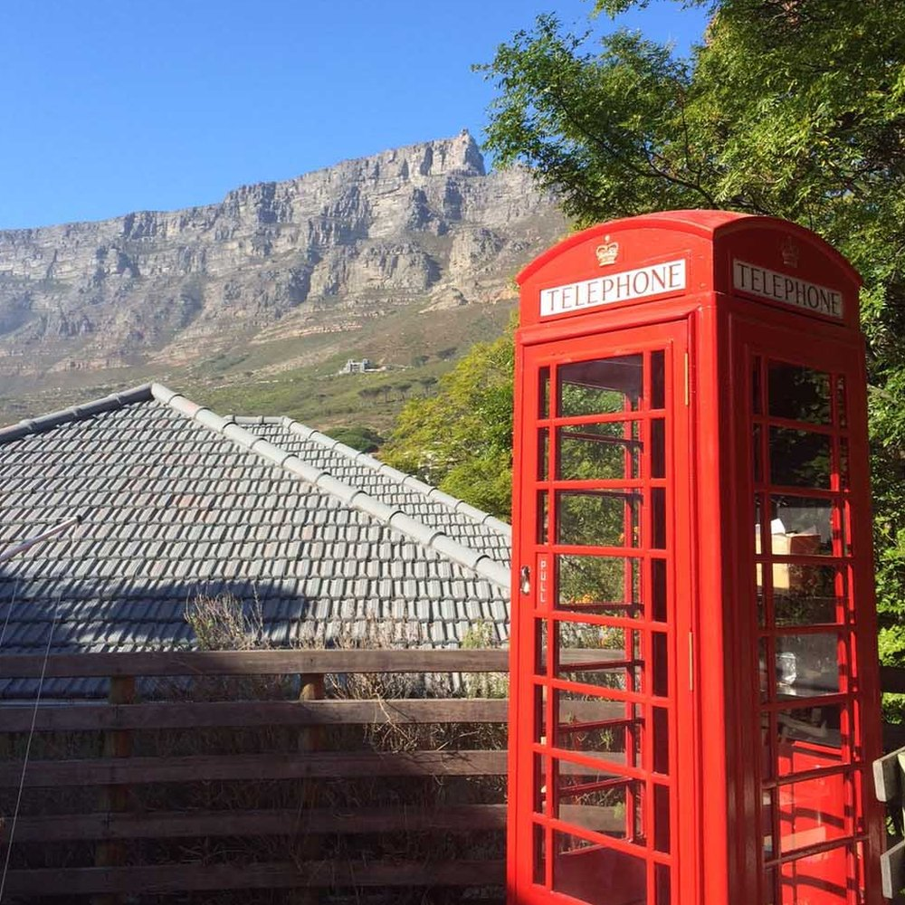 Phone box in Cape Town, South Africa