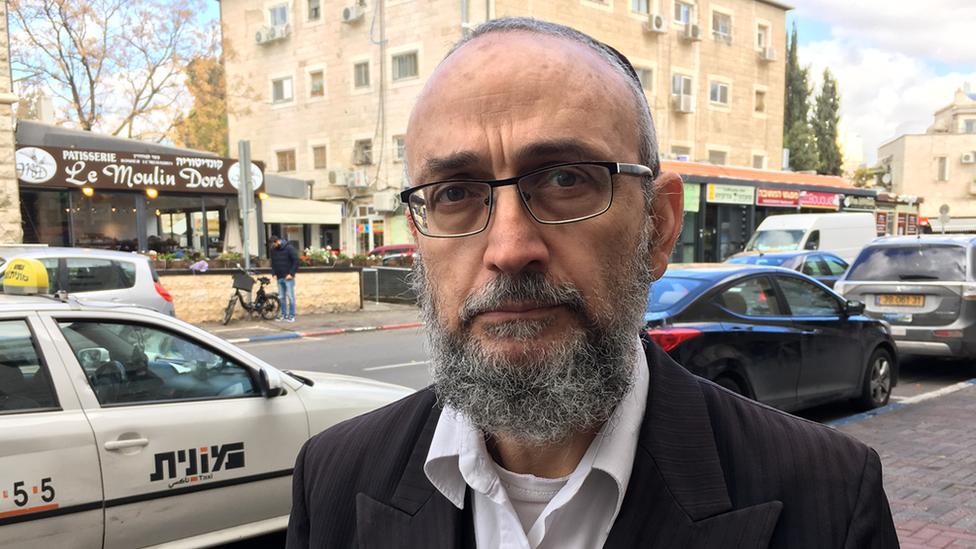 David Schreider in West Jerusalem. Photo: 7 December 2017
