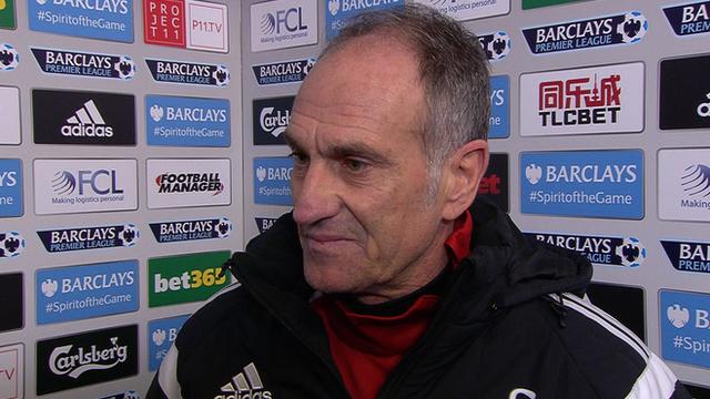 Swansea head coach Francesco Guidolin