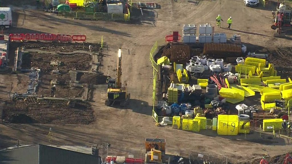 EastEnders: Aerial pictures of new set under construction