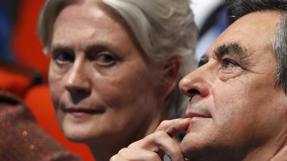 Penelope Fillon with her husband, Francois