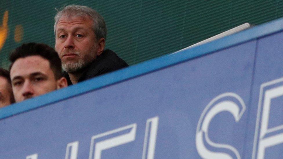 Roman Abramovich en Stamford Bridge.