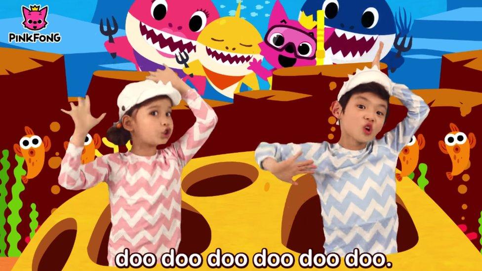 A still from the Babyshark video