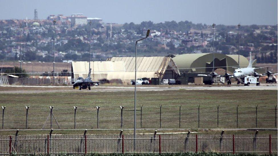 En un área de la base de Incirlik, bajo resguardo de fuerzas estadounidenses, se encuentran las bombas B61.