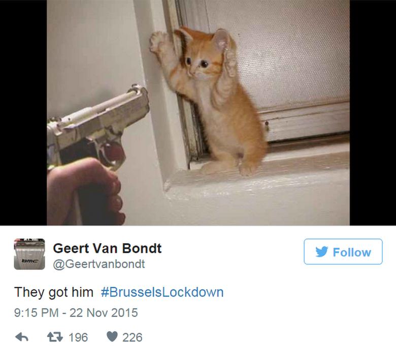 Geert van Bondt tweets: They got him #BrusselsLockdown