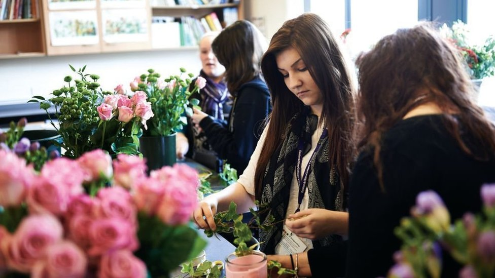 Floristry at Easton & Otley College