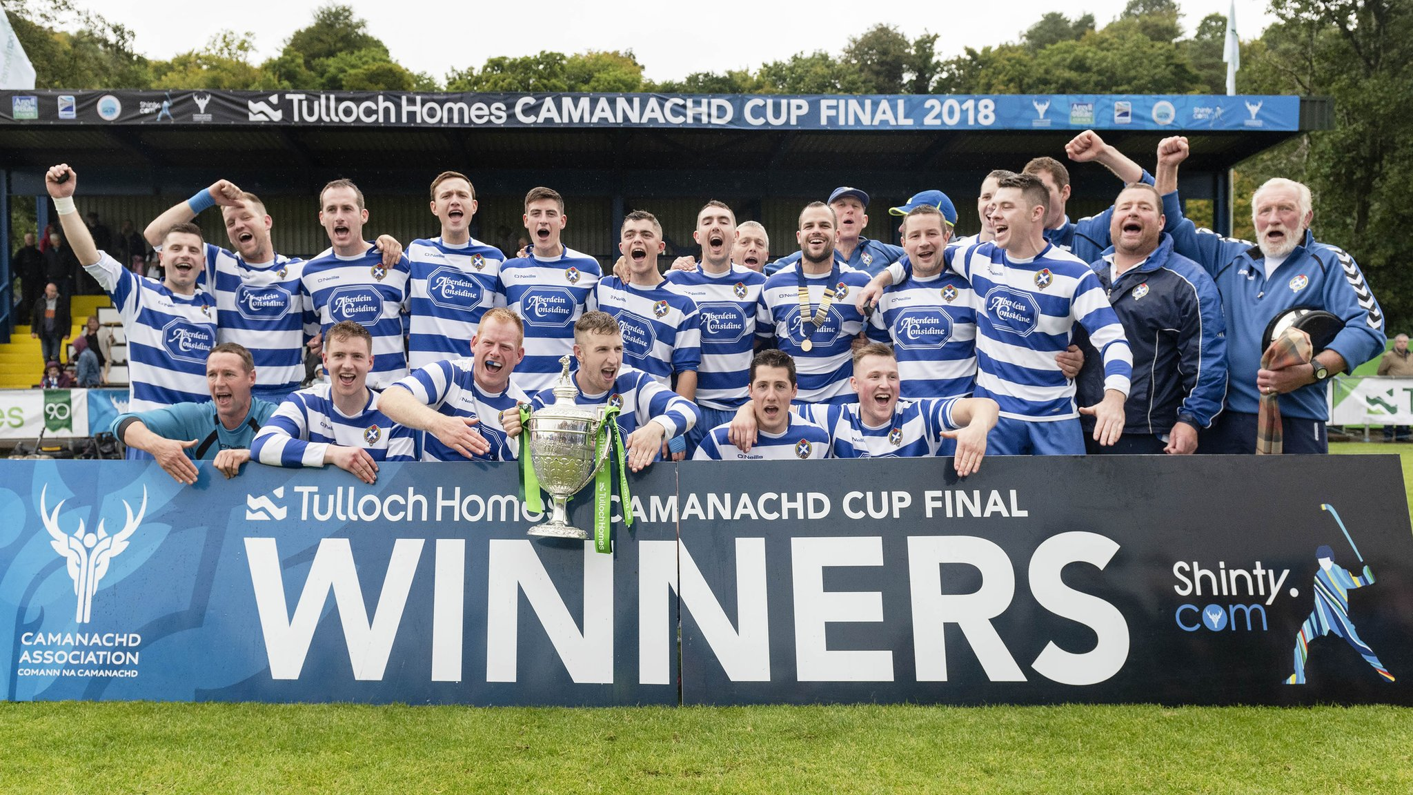 Shinty: Newtonmore make it three Camanachd Cups in a row with victory over Lovat