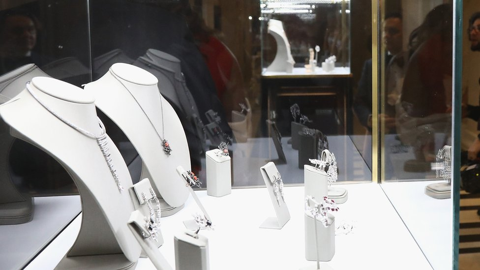 A launch party for jewellery on display at The Peninsula Hotel on January 20, 2019 in Paris