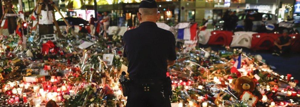 Tributes on Nice promenade