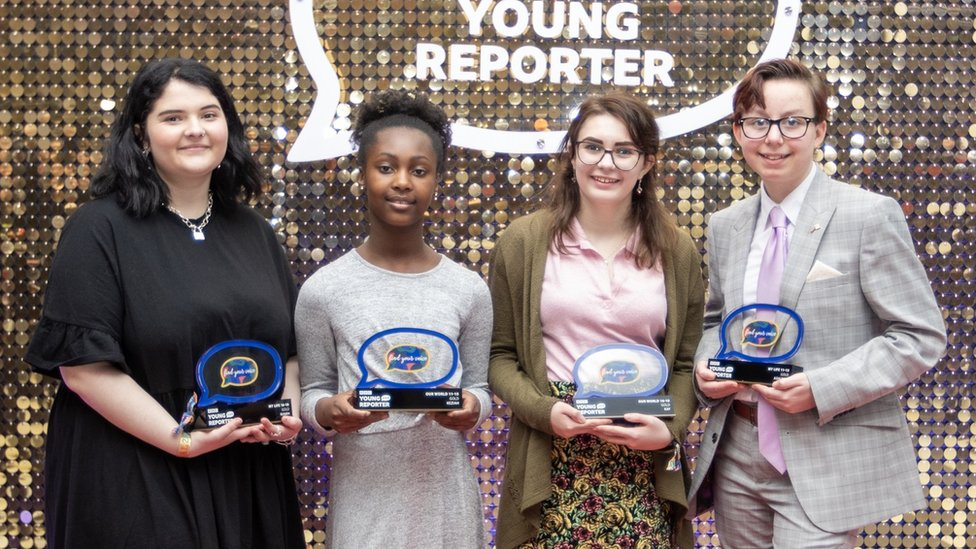 Young Reporter national winners (L to R) Niamh, Keziah, Kay, Ashleigh