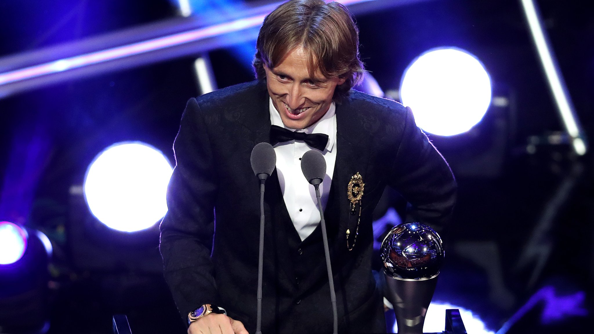Luka Modric named best male player at Best Fifa Football Awards