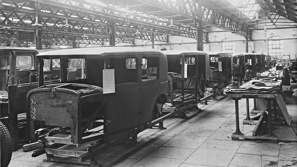 Sunbeam Motor Car Company off Villiers Street, Wolverhampton