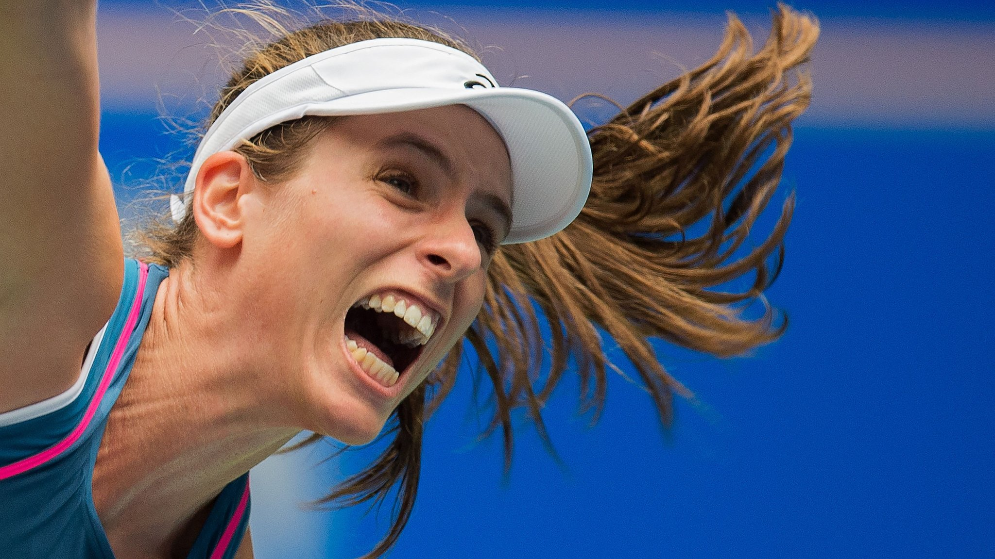 Johanna Konta loses in Wuhan Open first round to Ashleigh Barty