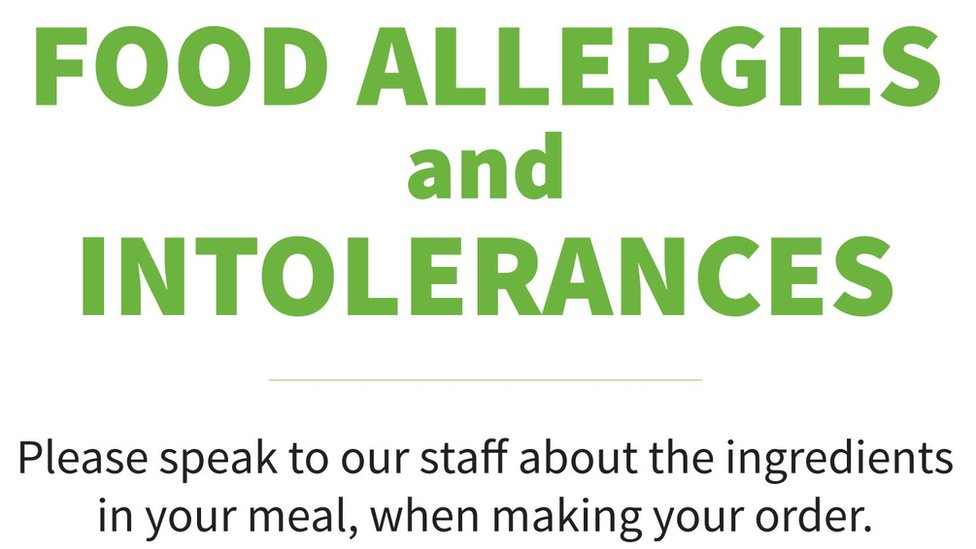Food allergen sign