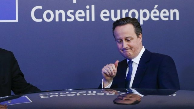 David Cameron leaving a European leaders' summit