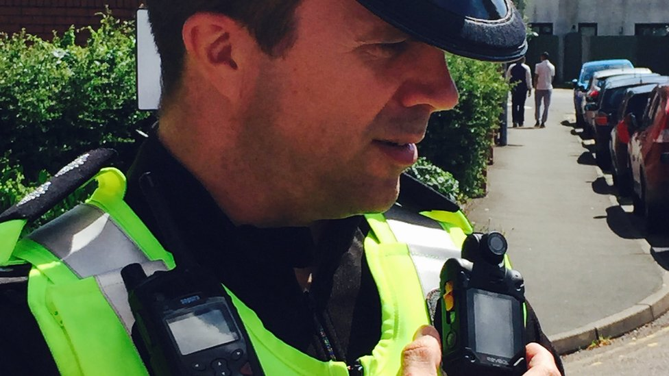 Inspector Richard Blakemore wearing one of the cameras