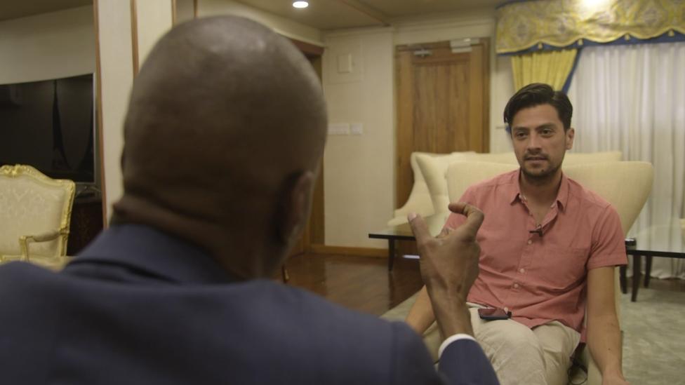 Daniel Pardo en entrevista con Jovenel Moïse.