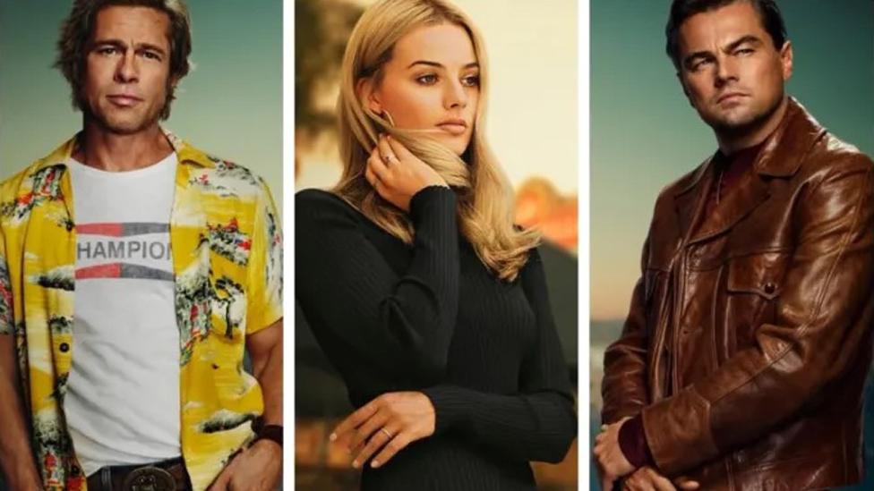 Brad Pitt, Margot Robbie and Leonardo DiCaprio