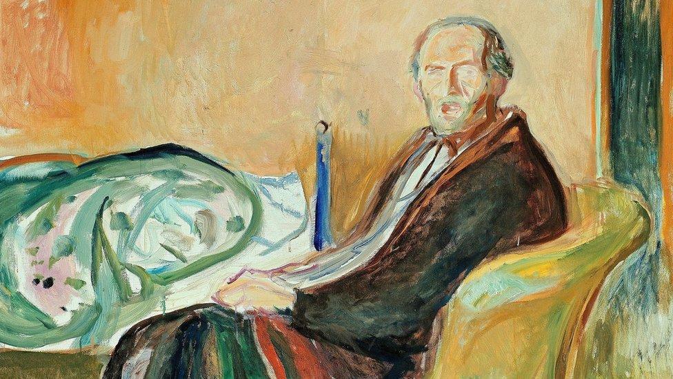 """""""Autorretrato con gripe española"""" de Munch"""