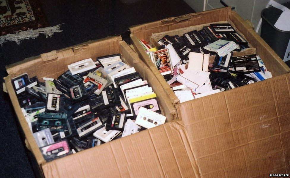 Boxes of cassettes