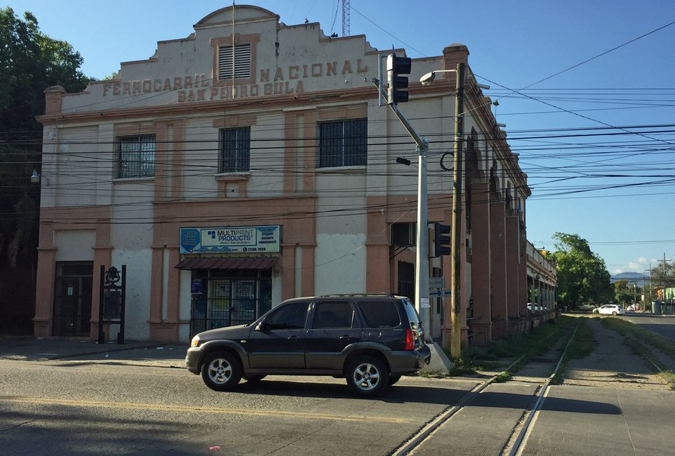 Antigua estación de ferrocarril de San Pedro Sula.