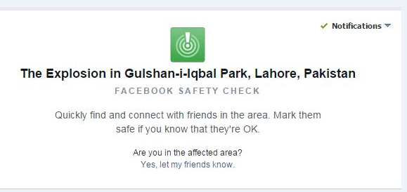 grab of facebook safety check page