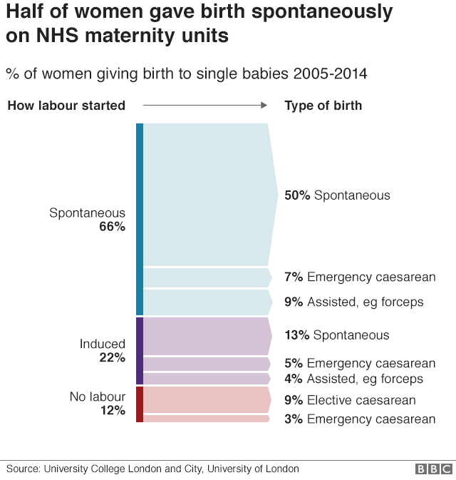 How women gave birth between 2004 and 2015