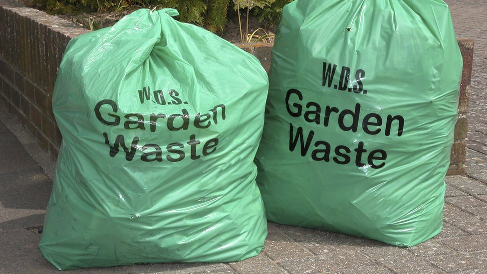 Garden waste collection bags in Sussex