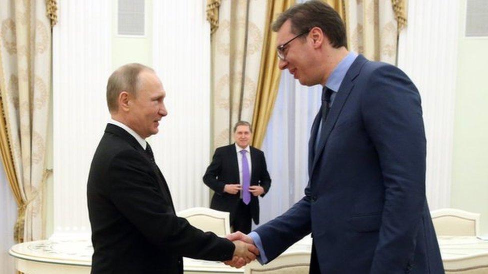 Putin i Vučić u Kremlju, 27. marta 2017 u Moskvi