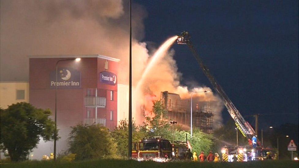 Premier Inn fire