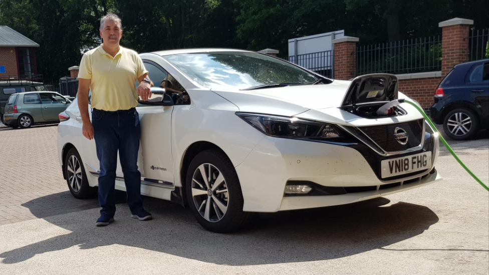 John Weatherley with his Nissan Leaf