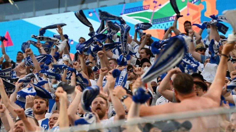 مشجعو فنلندا