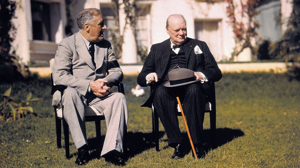 FDR and Churchill meet in Washington
