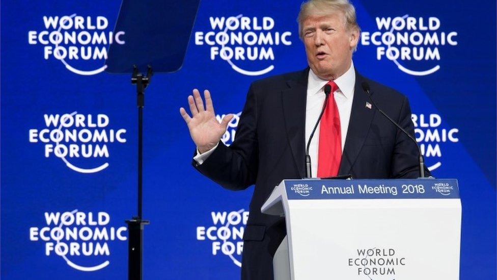 Donald Trump at Davos
