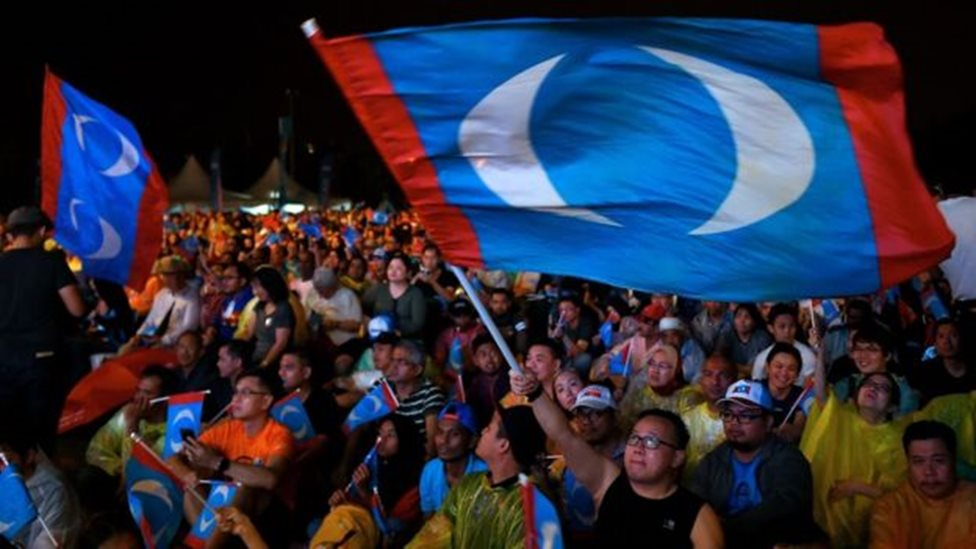 The opposition Pakatan Harapan logo is an eye - a reference to the black eye