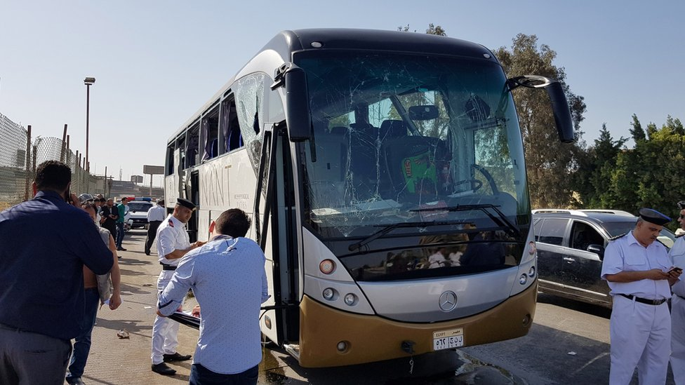 Egypt explosion: Tourists on bus injured near Giza pyramids