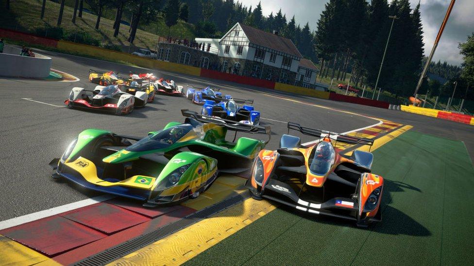 Un videojuego de carreras